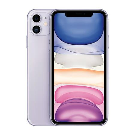 Straight Talk Apple iPhone 11, 64GB, Purple - Prepaid Smartphone