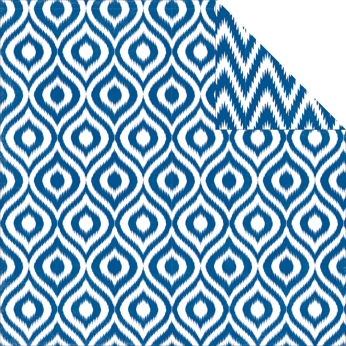 "Style Essentials 5th Avenue Double-Sided Cardstock 12""X12-Sapphire Ikat"