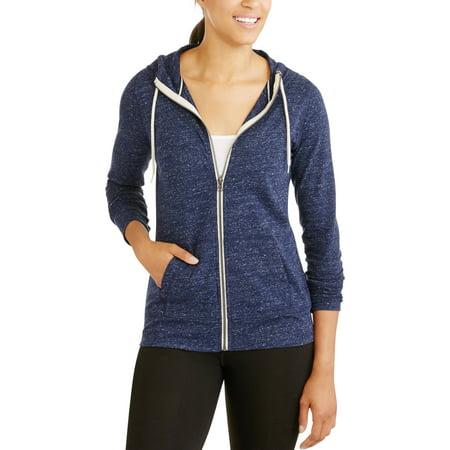 1f5568a7097 Danskin Now - Women s Vintage-Look Full Zip Hoodie - Walmart.com