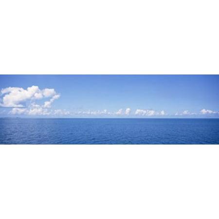 Panoramic view of the ocean Atlantic Ocean Bermuda Poster Print