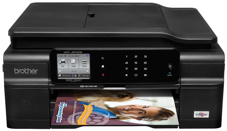 Color printing in windows 10 - Brother Work Smart Mfc J870dw Inkjet Multifunction Printer Walmart Com