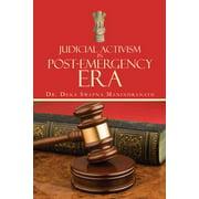 Judicial Activism in Post-Emergency Era - eBook