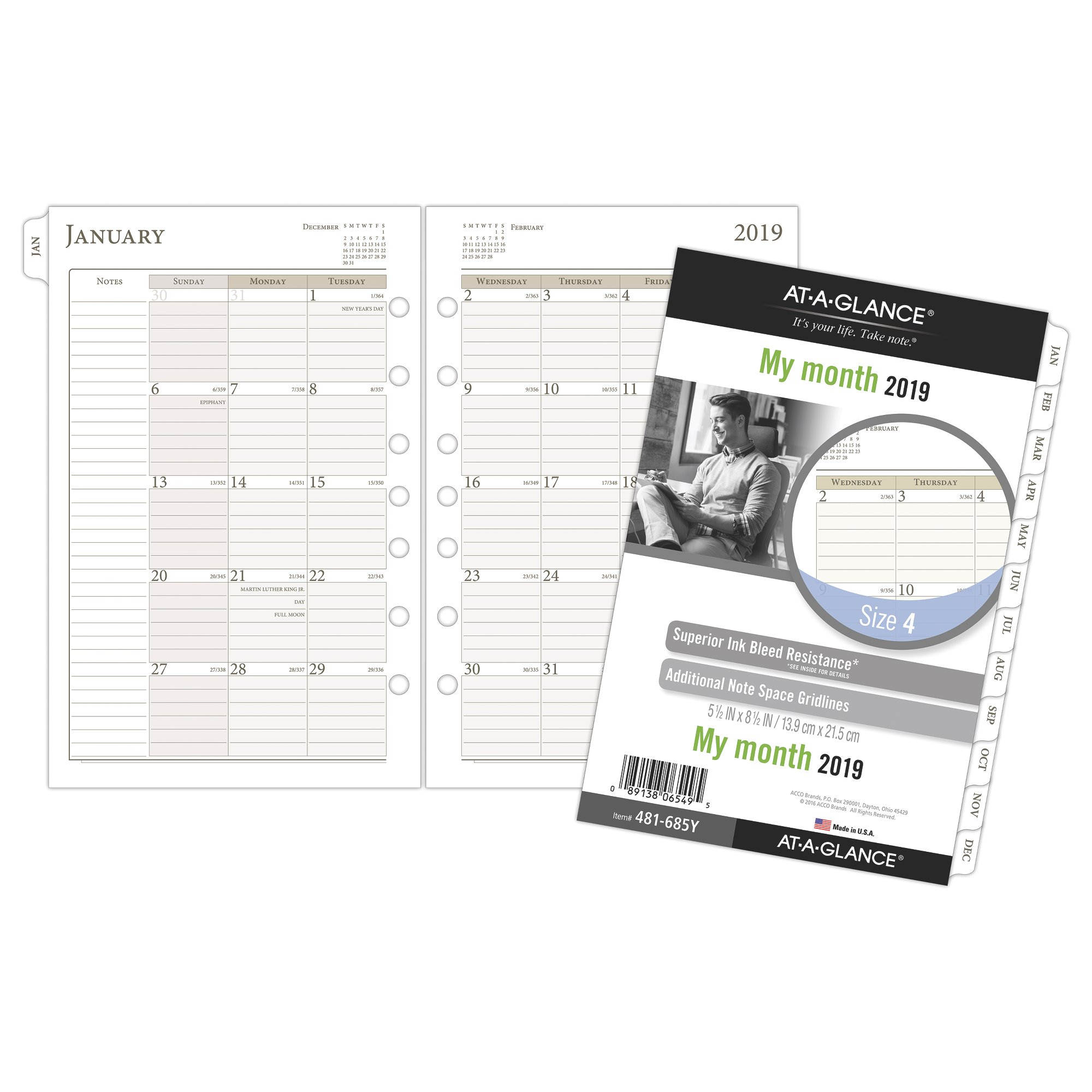 At-A-Glance Day Runner Monthly Planner Refill Size 4 Planner & Appointment by AT-A-GLANCE Day Runner