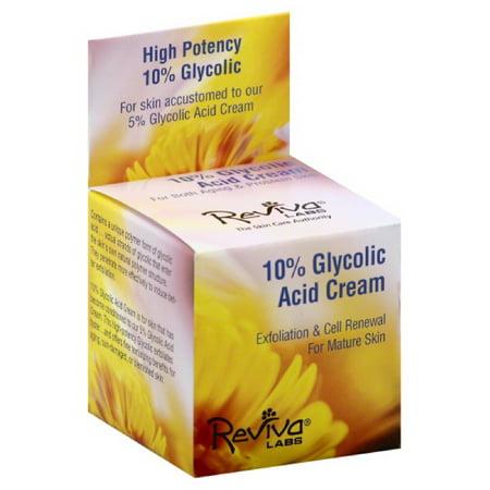 Reviva Labs 10  Glycolic Acid Night Cream  1 5 Oz