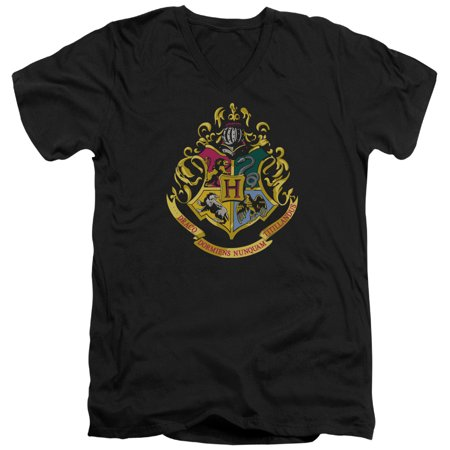 Harry Potter - Hogwarts Crest - Slim Fit V Neck Shirt - Large](Hogwarts Tie)