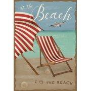 "At the Beach Summer Garden Flag Umbrella Chair 12.5"" x 18"""