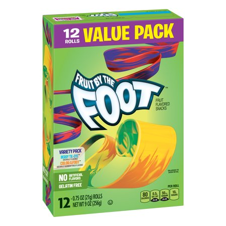 (2 Pack) Fruit Snacks Fruit by the Foot Variety Snack Pack 12 Rolls