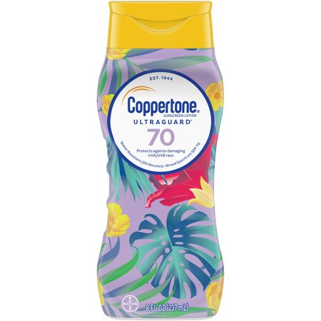 Coppertone Ultra Guard Sunscreen Lotion SPF 70, 8 fl (Best Suntan Lotion For Black Skin)
