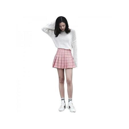 8e0fb6ebf3 Topumt - Topum Women Girls Summer Tennis High Waist Plaid Skirt College  Style Casual Mini Skirt - Walmart.com