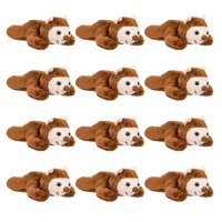"""Wildlife Tree 12 Pack Bats Mini 4"""" Small Stuffed Animals, Bulk Bundle Zoo Animal Toys, Forest Party Favors for Kids"""