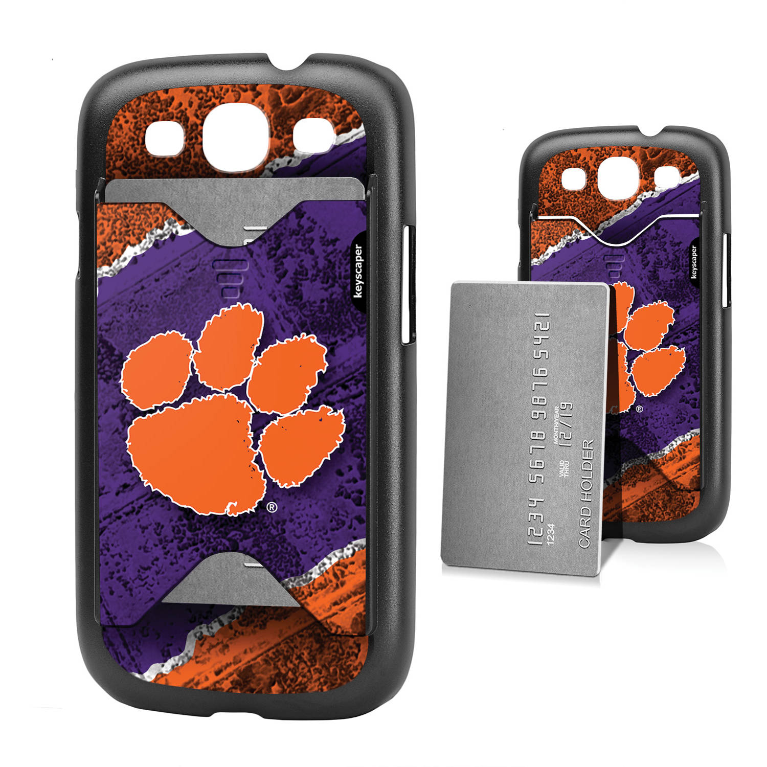 Clemson Tigers Galaxy S3 Credit Card Case