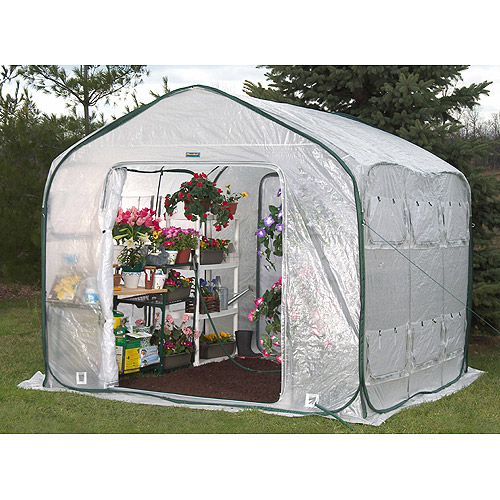 Flowerhouse 9' x 9' x 8' FarmHouse Greenhouse