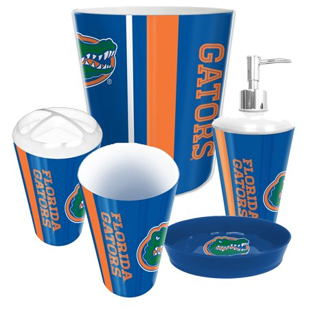 Northwest Nor 1col944000016ret Florida Gators Ncaa Complete Bathroom Accessories 5pc Set