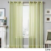 Softline  Milbrey Stripe Grommet Top Sheer Curtain Panel