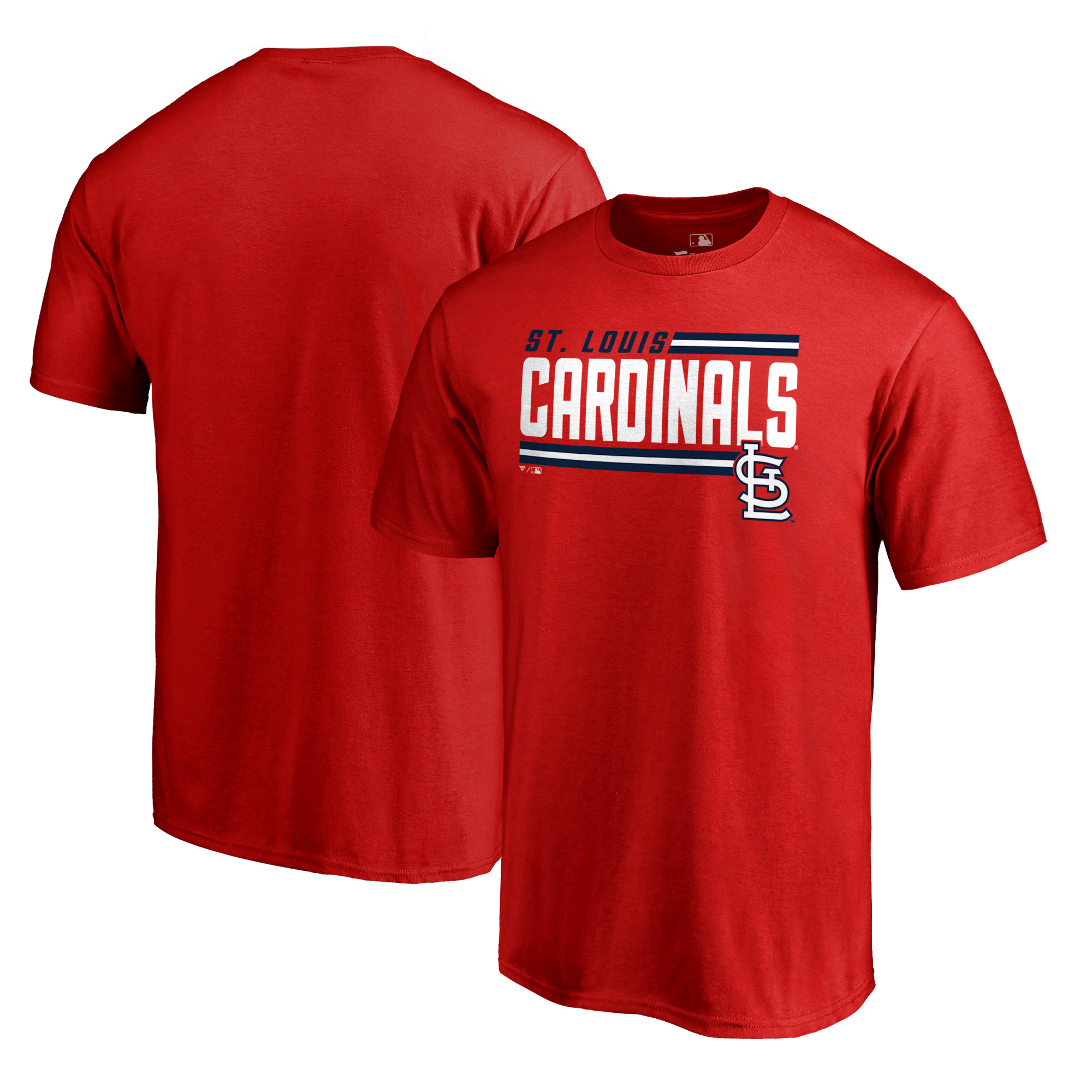 St. Louis Cardinals Fanatics Branded Onside Stripe T-Shirt - Red