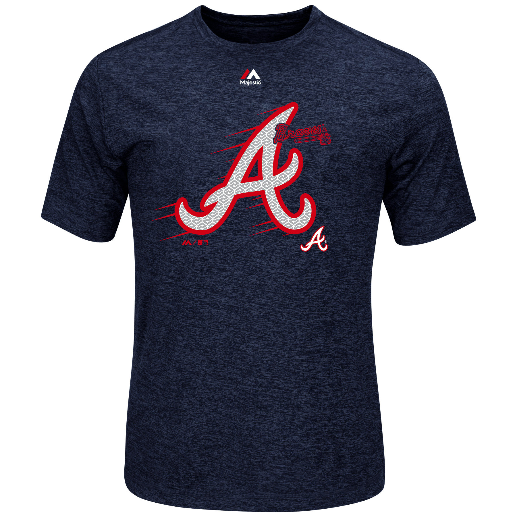 "Atlanta Braves Majestic MLB ""Far Beyond"" Cool Base Heathered Men's T-Shirt by MAJESTIC LSG"