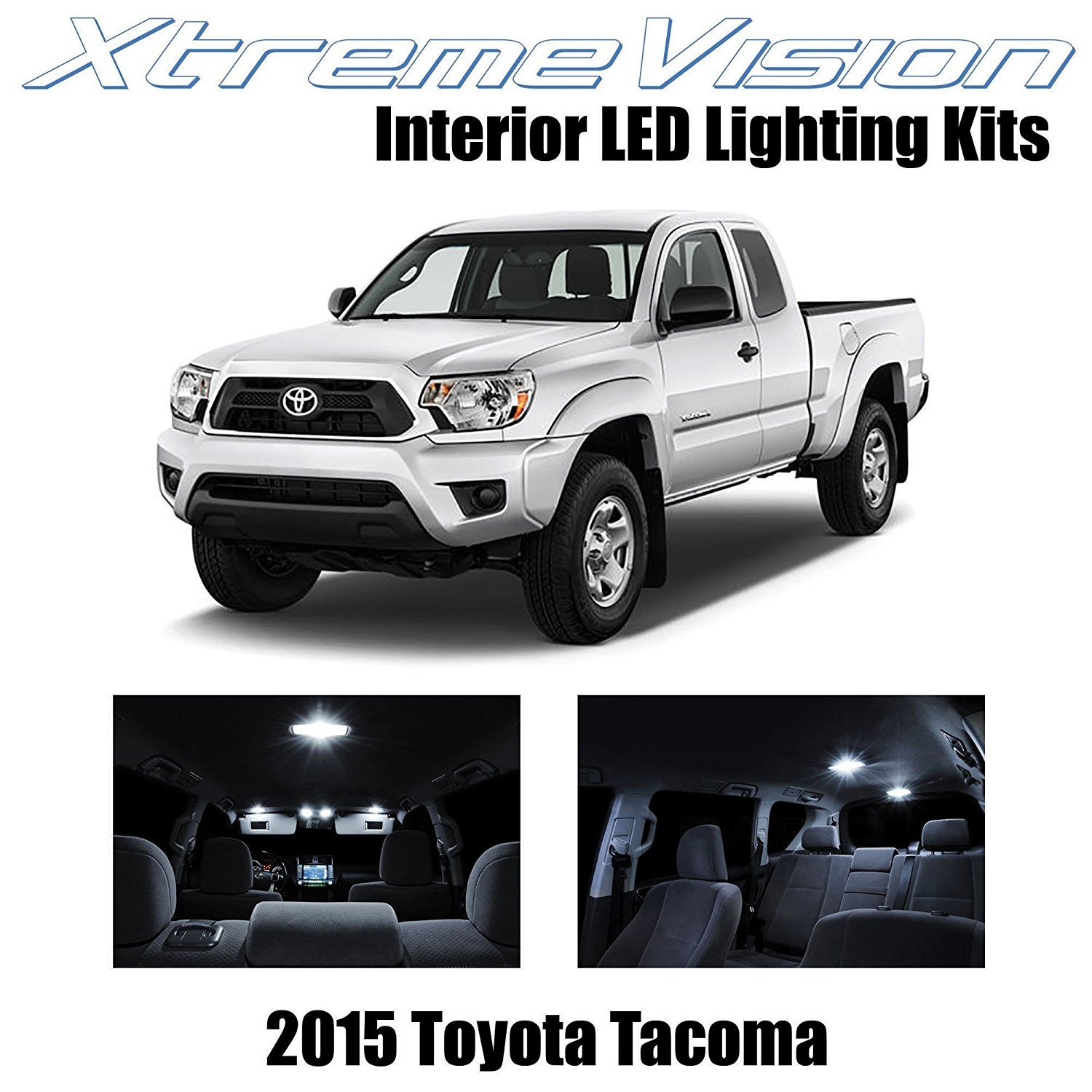 XtremeVision LED for Toyota Tacoma 2015+ (7 Pieces) Pure White Premium Interior LED Kit Package + Installation Tool Tool