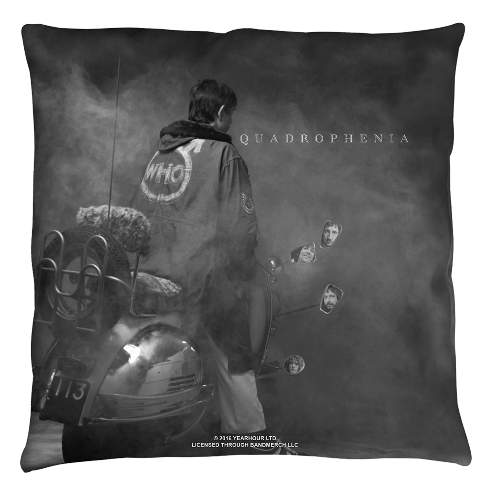 The Who Quadrophenia Throw Pillow White 16X16