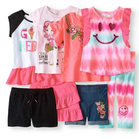 Little Girls' 4-8 Kid-Pack Mix And Match Outfits 8-Piece Set