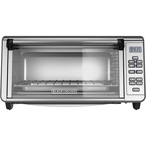 BLACK + DECKER TO3290XG Extra Wide Digital Toaster Convection Oven, Silver by