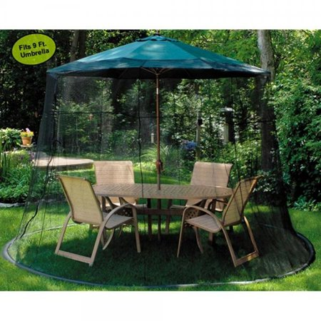 Lb International Mesh Mosquito Net Enclosure Fits Over A 9 Patio Umbrella