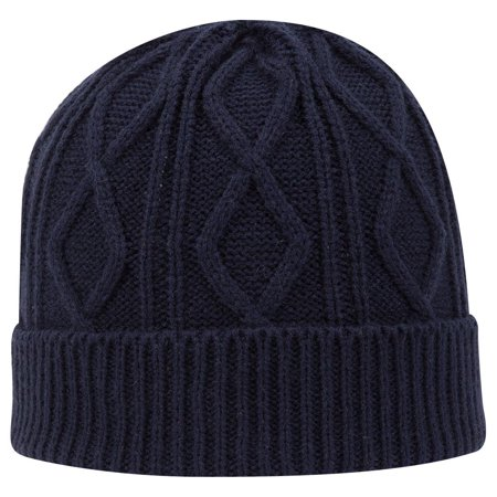 OTTO Cable Knit Beanie - Navy