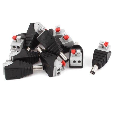 Unique Bargains 10 Pcs CCTV Camera 5.5x2.1mm DC Power Male Plug Spring Terminal Block Connector - image 1 of 1