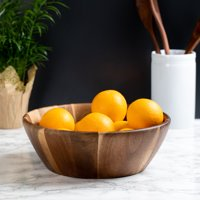 Better Homes & Gardens Large Angled Acacia Serving Bowl