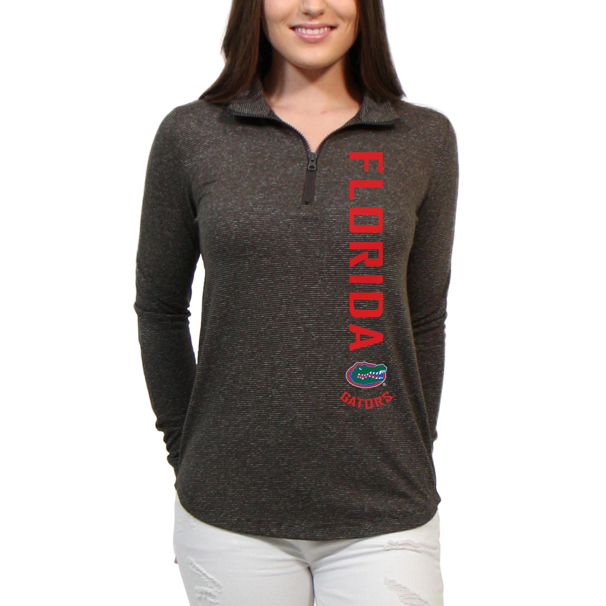 Florida Gators Cascade Text Women's/Juniors Team Long Sleeve Half Zip Shirt