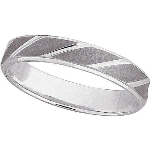 Women's Sterling Silver Wedding Band, 4mm