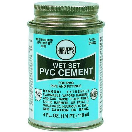 PVC CEMENT WET SET BLUE 4OZ