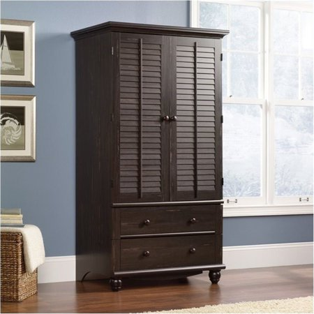 Painted Wide Armoire - Bowery Hill Armoire in Antiqued Paint