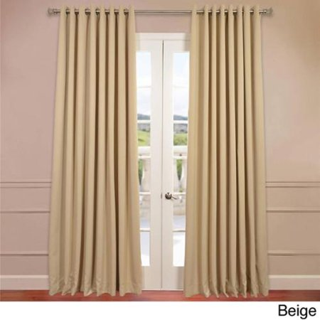 Eff Extra Wide Thermal Blackout Grommet Top 84 Inch Curtain Panel Beige