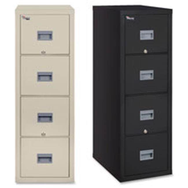 Fireproof Vertical File, 4-Drwr, Ltr,17.75 in. x 31 in. x 52.75 in.,PHT