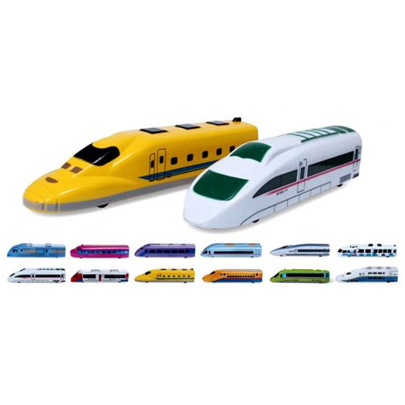 Pull Back Toy Trains For Kids - 12 Pack Fiction Powered Locomotive Toy 12 Different Colors And Designs, Great Gift For Kids Who Love Playing With Them And Collecting Them, Perfect For Kids Party Favor ()