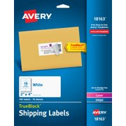Avery TrueBlock Shipping Labels with Sure Feed, 2