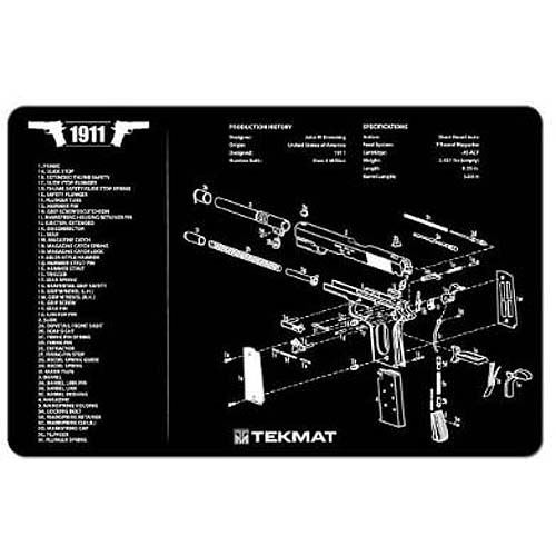 TekMat Neoprene Handgun Cleaning Mat with Imprint, Black