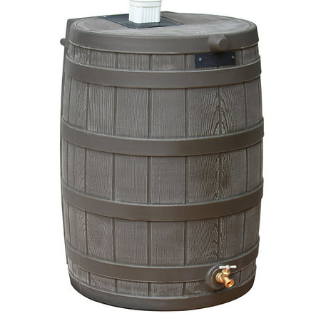 Good Ideas Rain Wizard 50 Gallon Rain Barrel - Oak 5 Gallon Oak Barrels