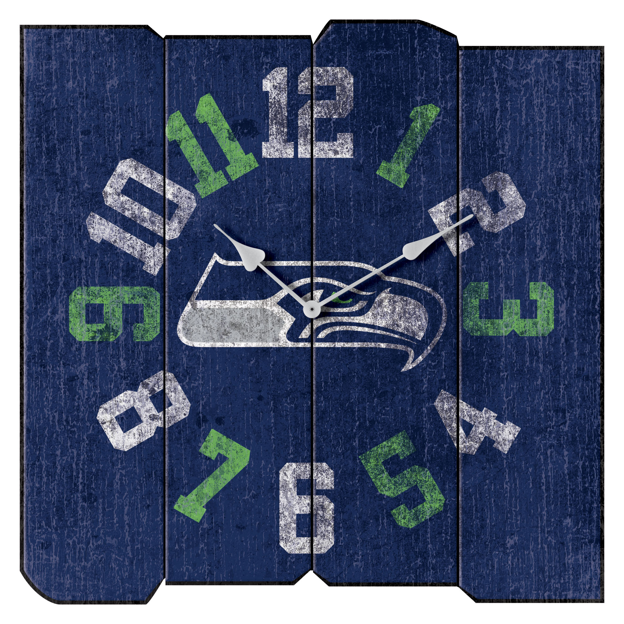 "Seattle Seahawks 16"" Vintage Sqaure Wall Clock - Blue - No Size"
