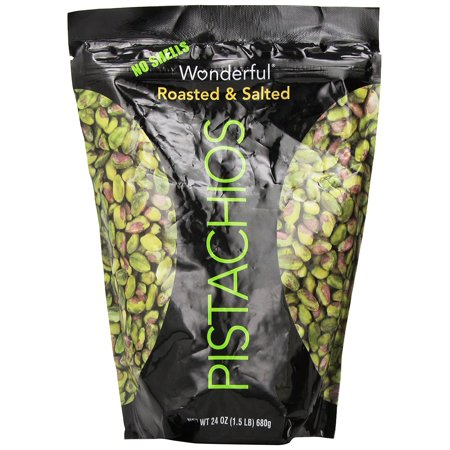 Roasted & Salted Pistacios 24 OZ, 24 27 Dry Oz Pistachio Roasted Salt Shell Edamame Pistacios Bags and of by Ounce 4Ounce Pack 2oz No Lightly 12 6oz 8oz Shells.., By Wonderful Pistachios