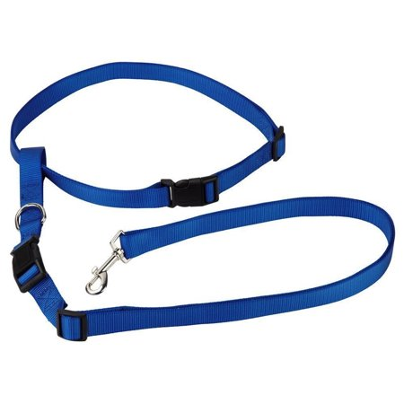 Hands-Free Running Adjustable Durable and Thick Nylon Rope Dog Leash Dog  Harness - Blue