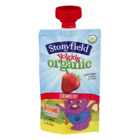 Stonyfield Yokids Organic Lowfat Yogurt Strawberry, 3.7 Oz.
