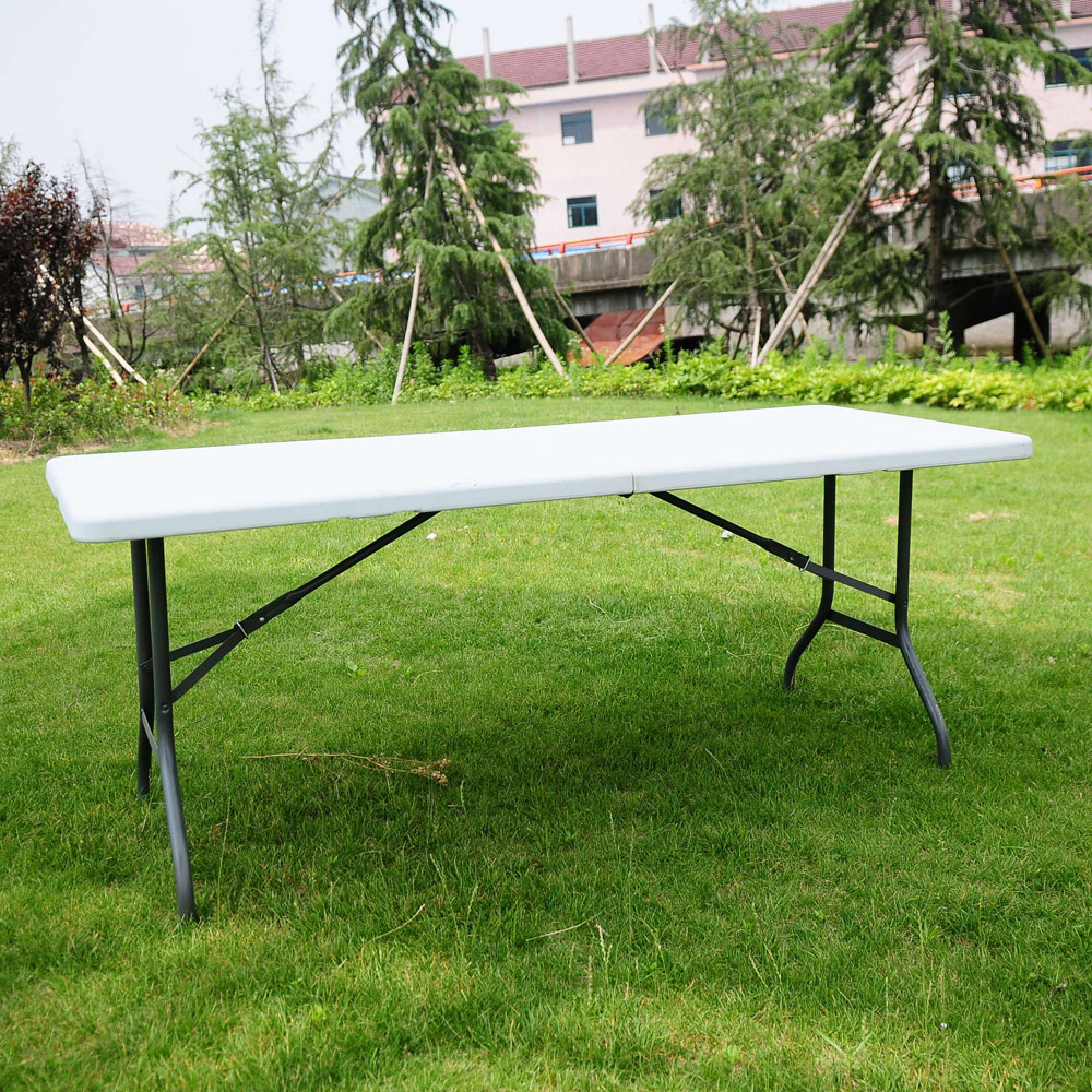 6FT Folding Camping Table Heavy Duty Portable Catering Picnic BBQ Dining Party
