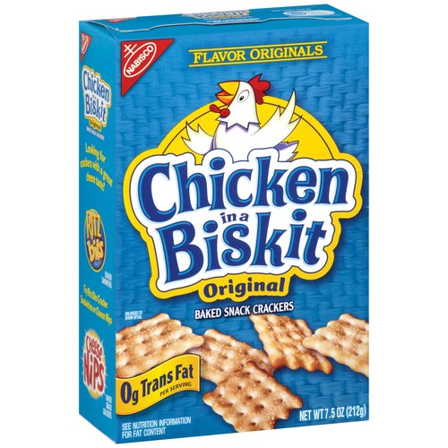 Nabisco Flavor Originals Chicken in a Biskit Original Baked Snack Crackers, 7.5 oz