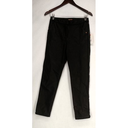 2 Pocket Crop - Billabong Pants Sz 25 Two Pocket Cropped Style w/ Pleat Black Womens