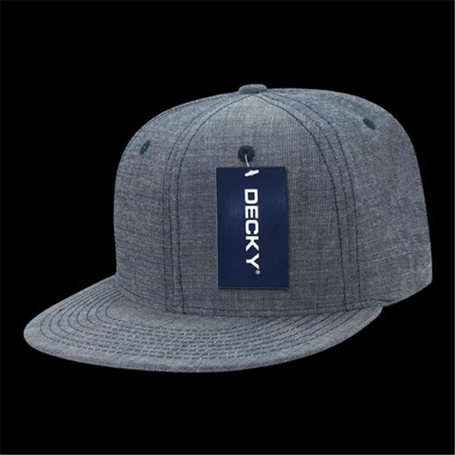 Decky 1094-BLU Washed Denim Snapback Cap, Blue - image 1 de 1