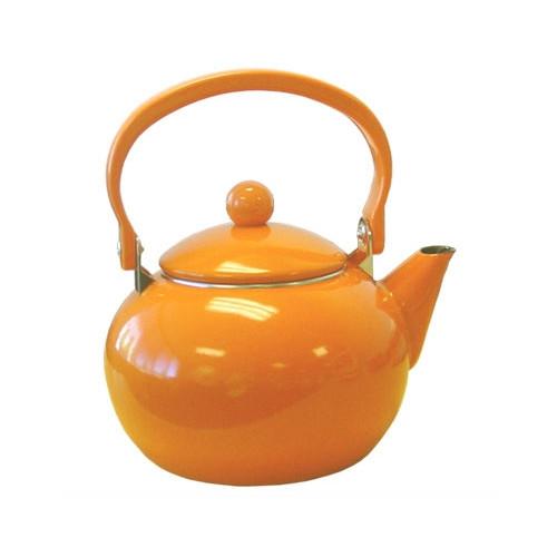 Reston Lloyd 2-Quart Enamel-on-Steel Teakettle, Orange