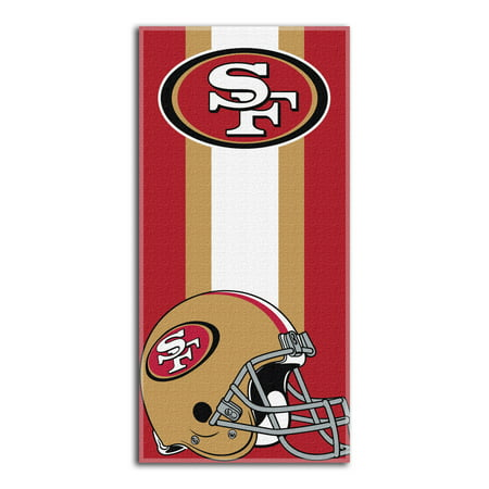 San Francisco 49ers The Northwest Company Zone Read Beach Towel - No Size