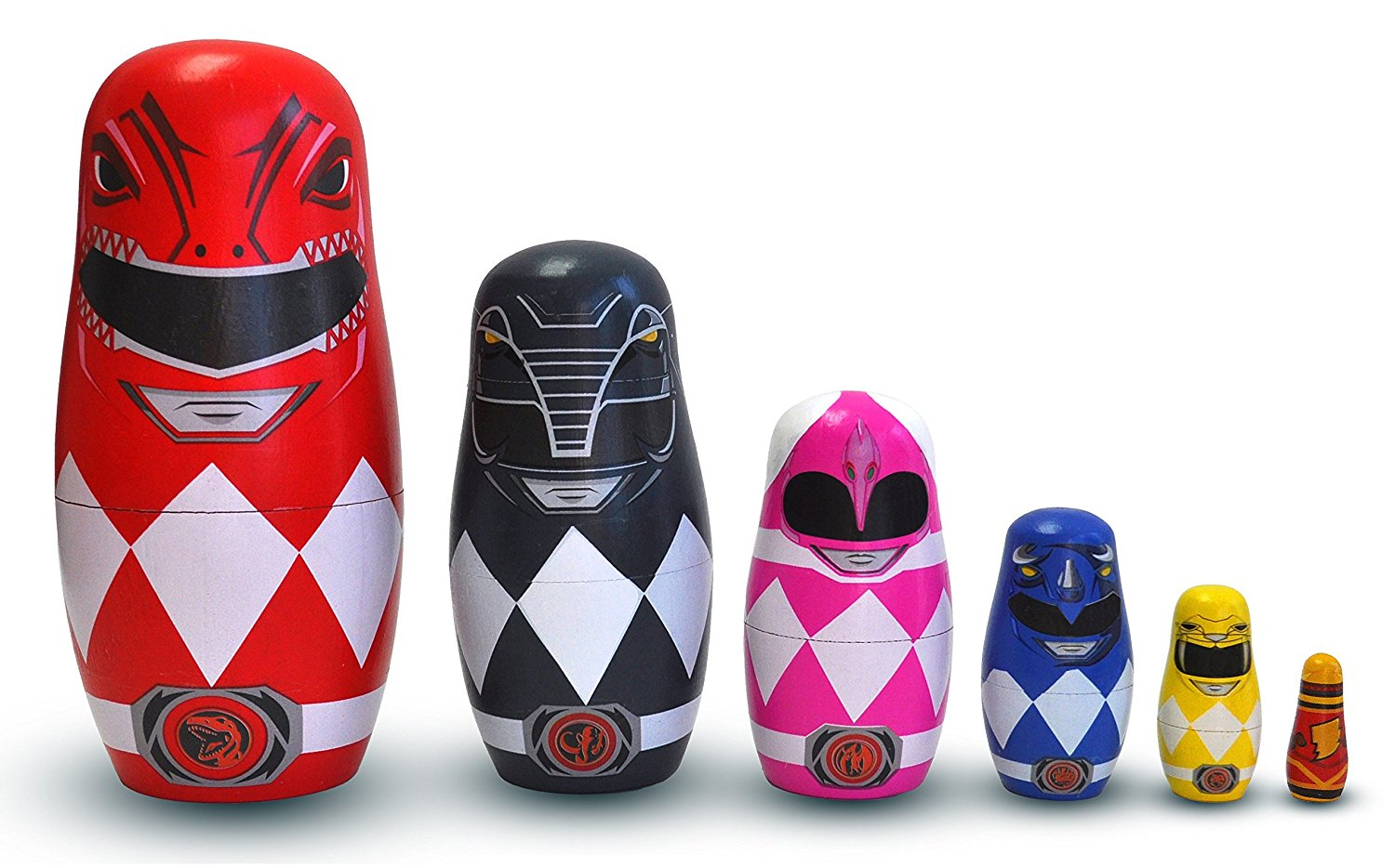 Nesting Dolls Power Rangers Set of 6 Toys Figure New 1905 by PPW