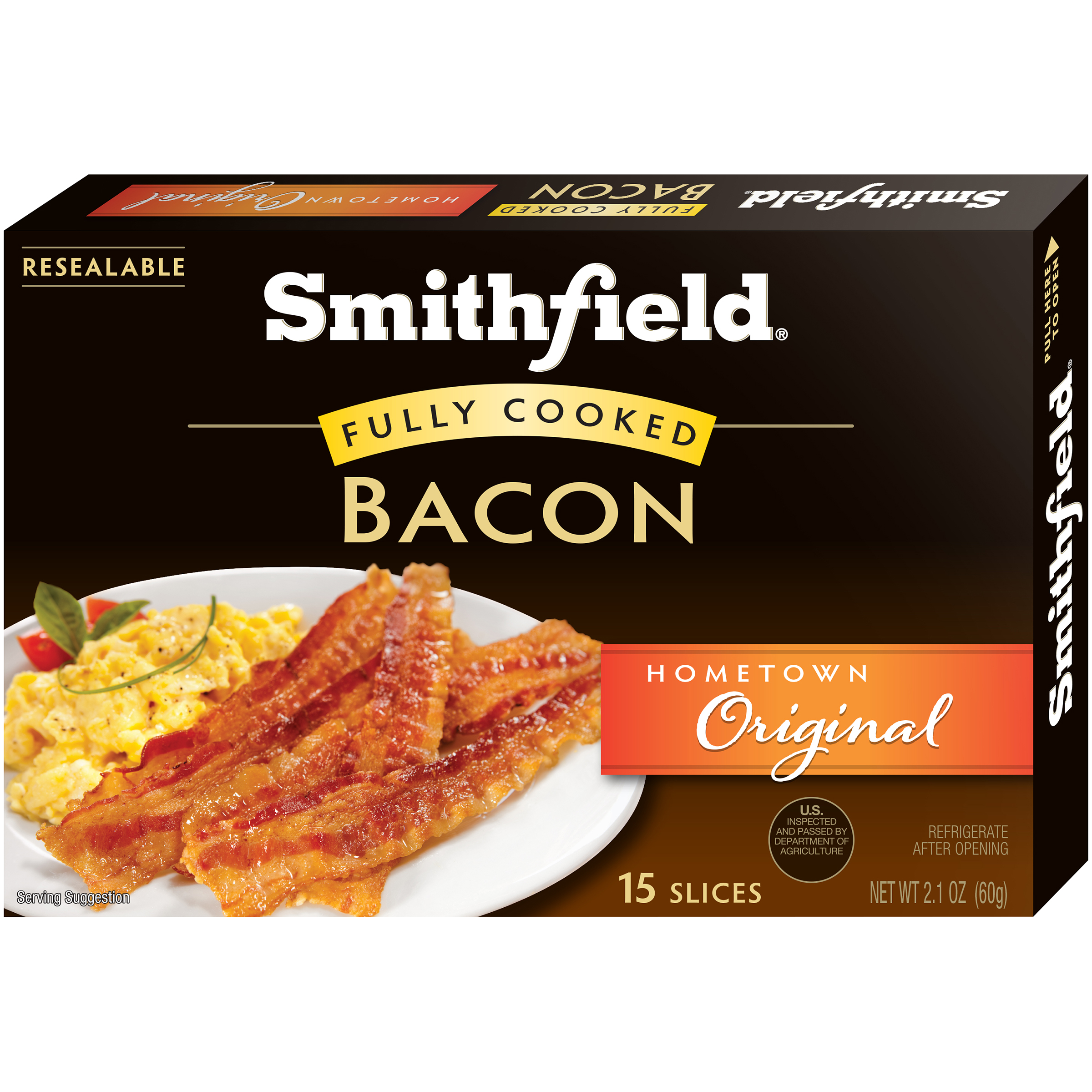 Smithfield�� Hometown Original Fully Cooked Bacon 2.1 oz. Box